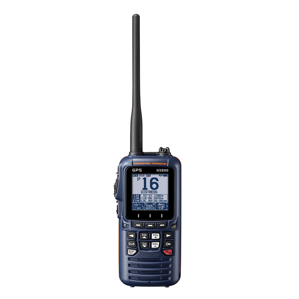 Standard Horizon HX890 Floating 6 Watt Class H DSC Handheld VHF/GPS - Navy Blue
