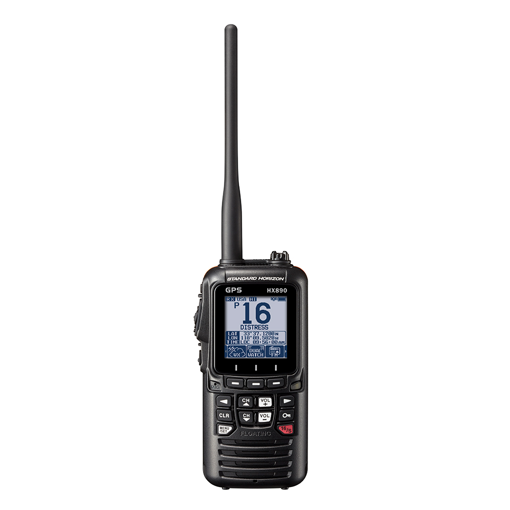 Standard Horizon HX890 Floating 6 Watt Class H DSC Handheld VHF/GPS - Black