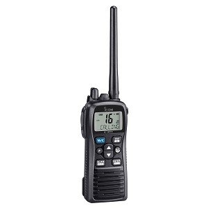 Icom M73 PLUS Handheld VHF - 6W - IPX8 Submersible - Active Noise Canceling, Built-In Voice Recorder