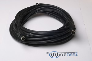 25ft VISCA PTZ Daisy Chain Camera Control Cable Sony EVI/BRC/SRG Series RS232 8 Pin Mini DIN to 8 Pin Mini DIN Serial