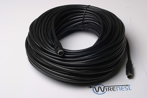 50ft VISCA PTZ Daisy Chain Camera Control Cable Sony EVI/BRC/SRG Series RS232 8 Pin Mini DIN to 8 Pin Mini DIN Serial